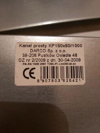 Kanał prosty KP150x50/1000-OC Darco 5 szt.
