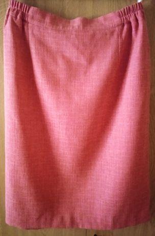 Spódnica ołówkowa różowa