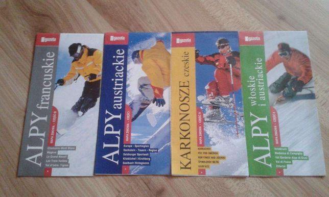 Mapy dla narciarzy... komplet 4 regionów