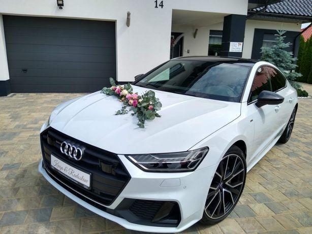 AUTO DO ŚLUBU Audi A7 białe Kalisz  Konin Turek Sieradz Ostrów Koło