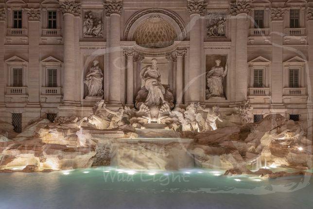 Quadro Alumínio - Fotografia original Fontana Di Trevi - Roma 50x75cm
