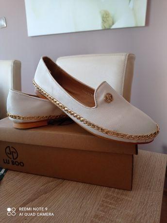 Nowe buty Lu Boo 38 białe