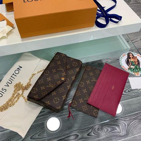 Od ręki Portfel łańcuszkowy Louis Vuitton felicie monogram M61276