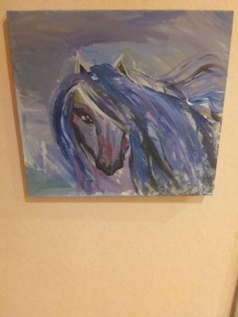 Картина акварелью лошадь.