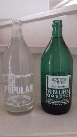 2 Garrafas Pirogravadas de 1 lt. dos anos 60