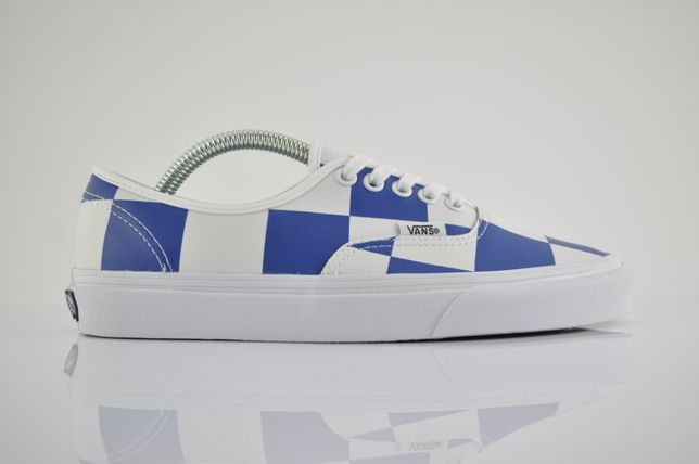 "Vans Leather Check Authentic ""True White/True Blue"" 38,5 nowe PURRFECT"