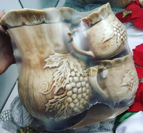 Набір кувшин глиняний + 4 кружки