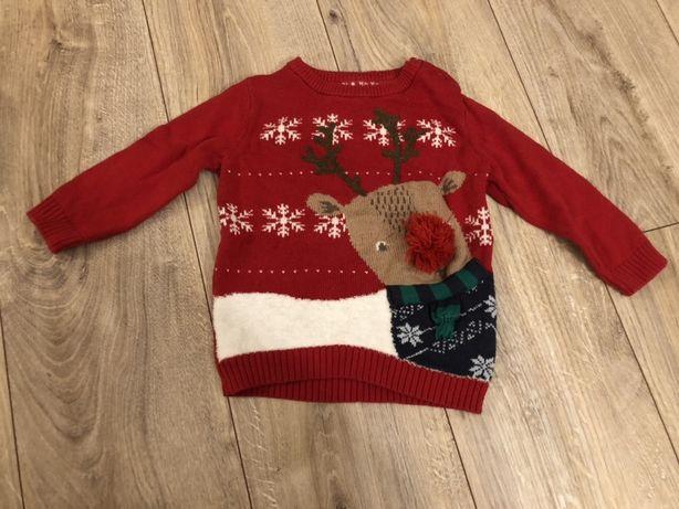 Sweterek świąteczny rozmiar 80