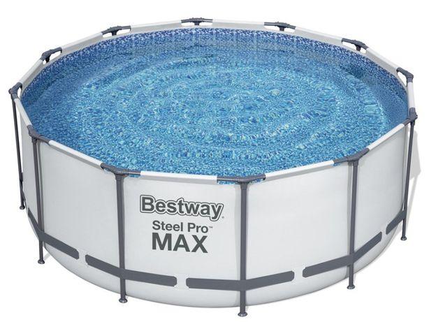 Круглый каркасный бассейн Bestway 56420, 3.7x1.2 м, комплект Премиум