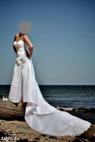 Suknia ślubna Elizabeth Passion z rozcięciem roz.38 E2398t