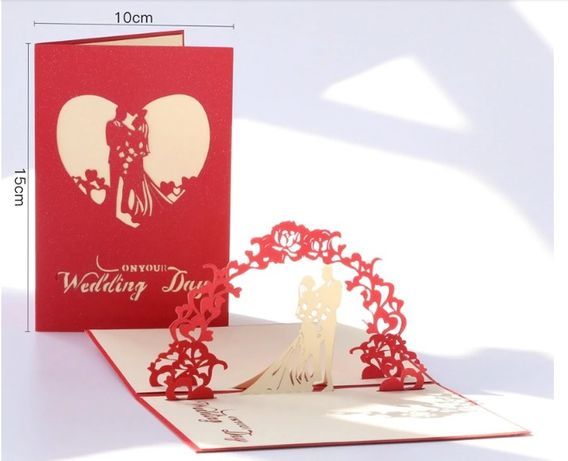 Kartka 3D ślub wesele
