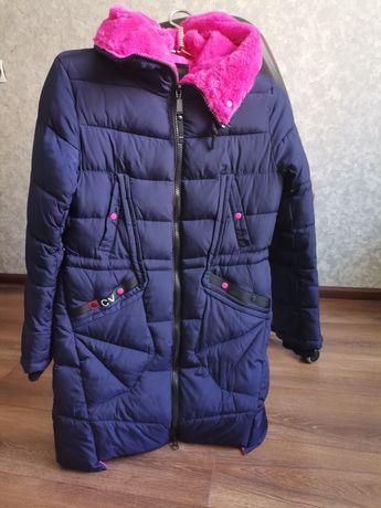 Зимове пальто з хутром