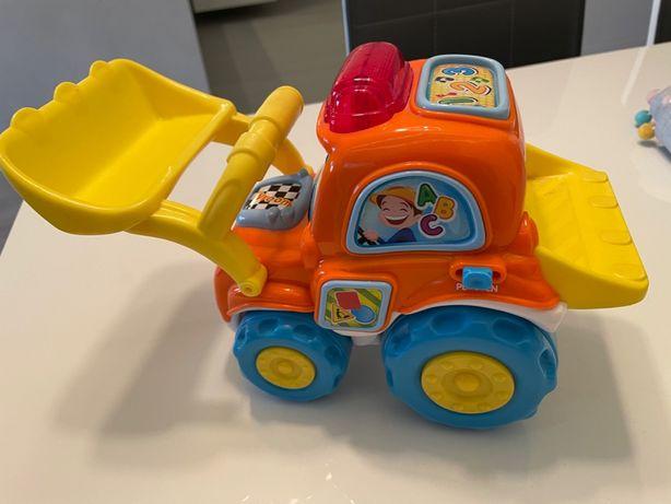 Clementoni, Janek - gadający spychacz, zabawka interaktywna + gratis