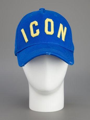 Męska niebieska bejsbolówka ICON Dsquared2 czapka z daszkiem hit
