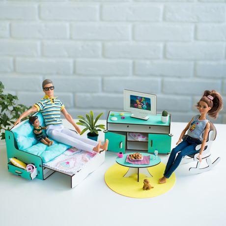 Мебель NestWood ГОСТИНАЯ диван телевизор стол кукольный домик Барби