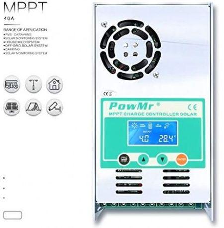 Controlador de Carga Solar 30A 40A 50A 60A 100A MPPT verdadeiro