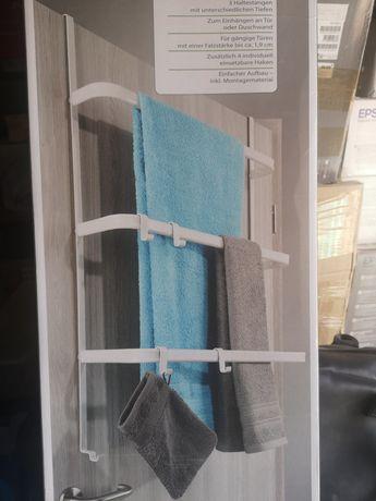 Wieszak na ręczniki na drzwi z haczykami