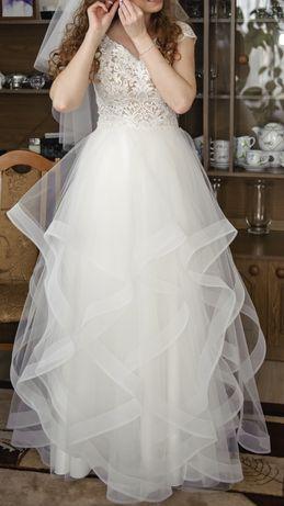Suknia ślubna z dodatkową spódnicą