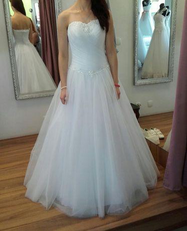 Suknia ślubna, tiulowa, księżniczka