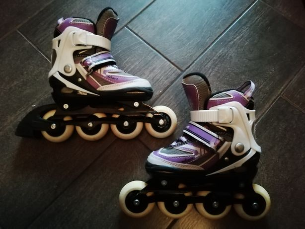 Детские роликовые коньки Zelart для девочки, размер 32-35
