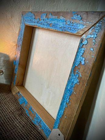 Ramka na zdjęcia Drewniana ramka Ramki Frame Hand made 34x33,5 cm