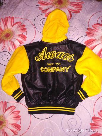 Детская кожаная куртка для мальчика Awacs