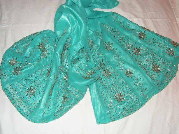 belly dance bollywood sari cudny lazurowy zestaw !