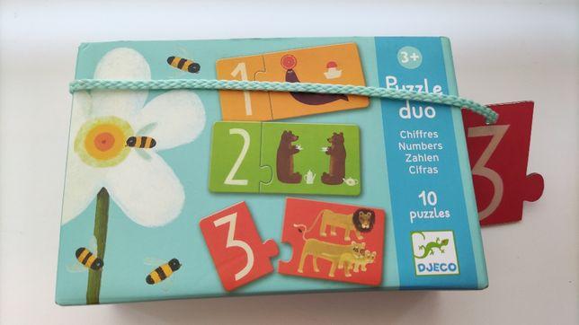Пазл Puzzle duo Djeco Посчитай Джеко дуо пазлы счет цифры