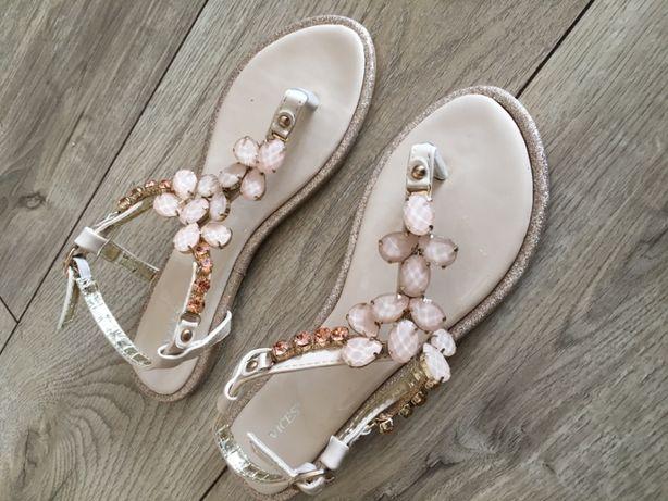 Beżowe zdobione sandałki damskie rozmiar 37 NOWE! DeeZee