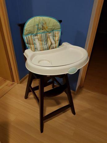 Krzesełko do karmienia drewniane