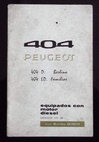 Peugeot 404 D, 404 LD - Manual