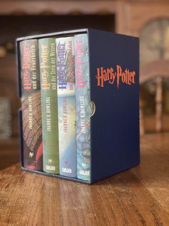4 Książki Harry Potter twarda oprawa po niemiecku