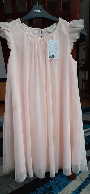 H&M sukienka z brokatem tiulowa Nowa 140 cm 9-10 lat