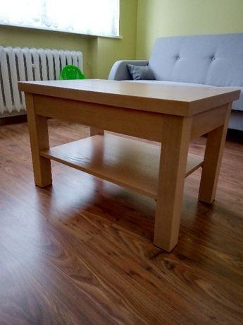 Ława z drewna bukowego z półką