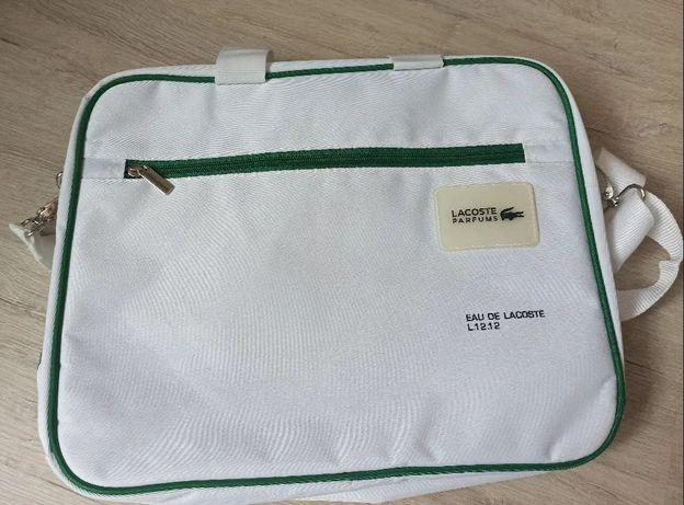 Lacoste torba na laptopa, do pracy Unisex
