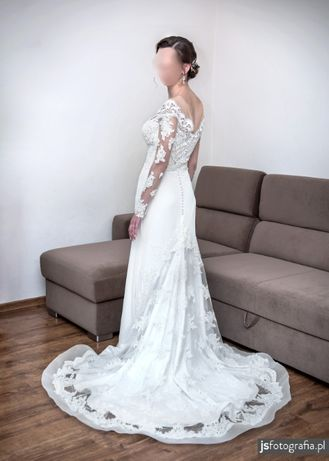 Suknia ślubna MillaNova 36/38 ivory