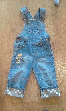 Классный джинсовый комбинезон 12-18 месяцев (Турция)