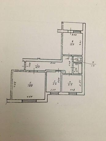 Продам 3-х кімнатну квартиру м.Бурштин