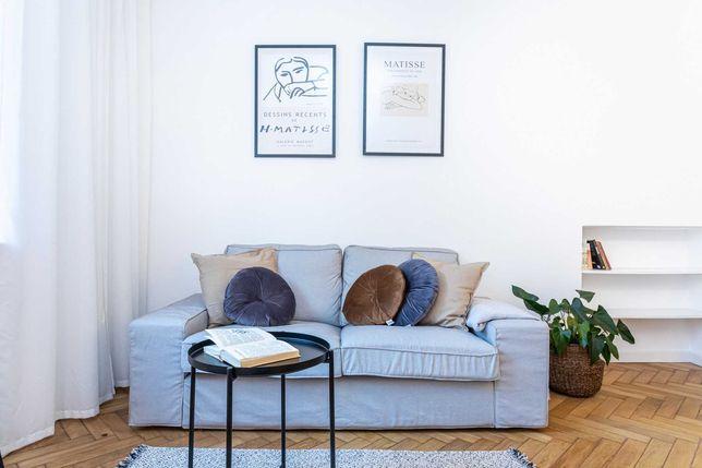 Kanapa sofa stan idealny szara 2 osobowa Ikea KIVIK piękna