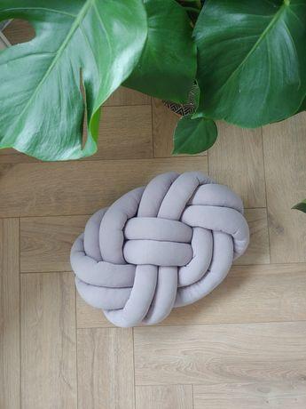 Poduszka pleciona kolor liliowy