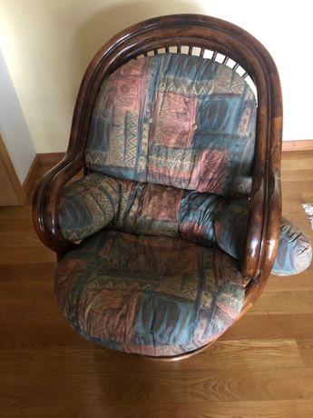 Cadeira Bambu giratória