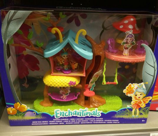 Enchantimals motylkowy domek na drzewie kwitnący ogród Mattel