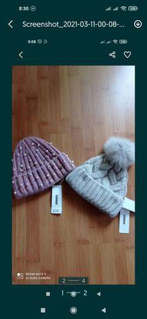 Продам теплі в,язані  шапочки
