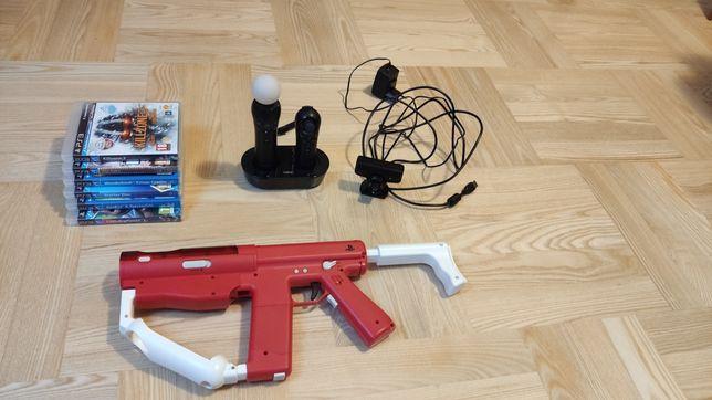 PlayStation Move + Sharpshoter + 4 gry