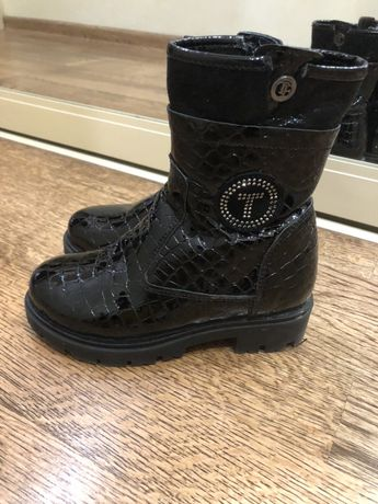 Лаковые зимние ботинки р 28 натур бу