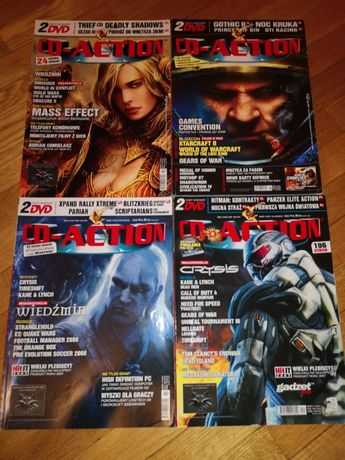 CD-Action - 2007 rok, 4 szt. 143,144,145,146