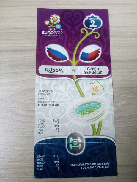 Euro 2012 - Rosja - Czechy - bilet cały