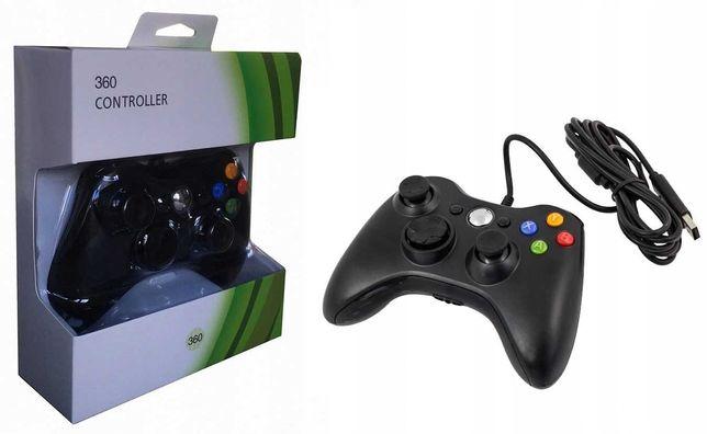 Pad PC XBOX 360 przewodowy kontroler USB czarny * Video-Play Wejherowo