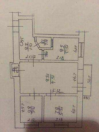 Продам квартиру без ремонту вулиця Мічуріна №1 кв 15