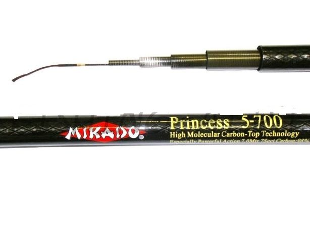 Удочка маховая без колец Mikado Princess карбон 4/5/6/7 м микадо